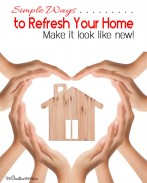 7 simple ways to make your old home look new again! Refresh your home with these simple tips! {OneCreativeMommy.com}