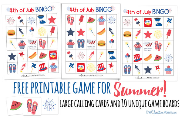 cool summer game perfect for a 4th of july picnic or family reunion 4th of free christmas bingo cards - Free Printable Halloween Bingo Game Cards