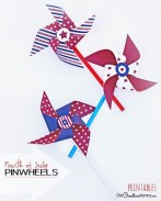 Fun and Easy 4th of July Craft for Kids! Patriotic Pinwheels | I provide the mix-and-match printables and instructions. You provide the fun! {OneCreativeMommy.com}