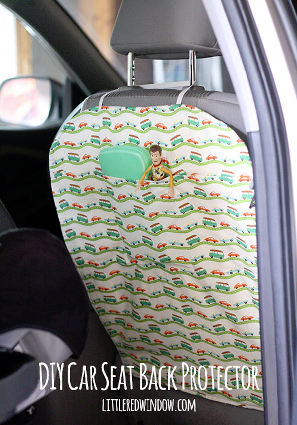 Best Travel Hacks -- Seat Protector {Featured on OneCreativeMommy.com}