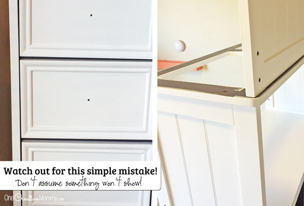How to Paint Furniture like a Pro {OneCreativeMommy.com} Bloopers!