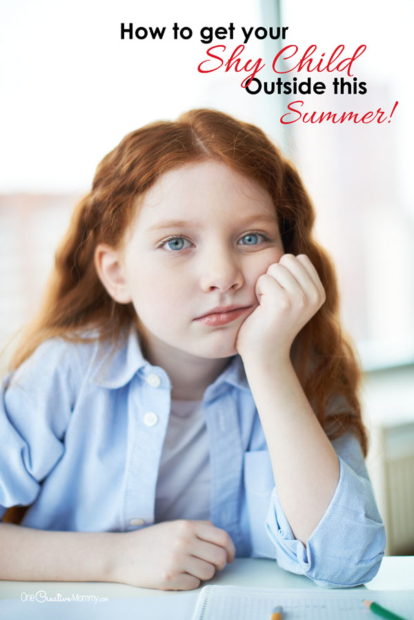 Too shy to get outside and have fun with friends this summer? Check out these great tips for shy kids {OneCreativeMommy.com} Parenting Tips