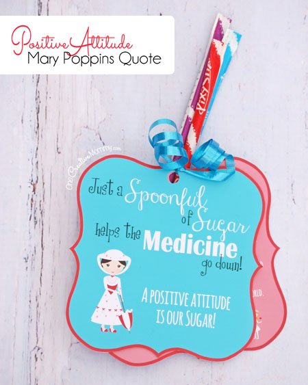 Lessons From Mary Poppins! {Positive Attitude Printables}    Onecreativemommy.com