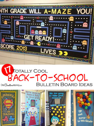 Start the school year off right with cool back to school bulletin board ideas and classroom door decorations! {OneCreativeMommy.com}