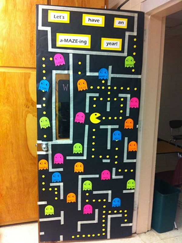 Wow the class with these cool back to school bulletin for Cool door ideas