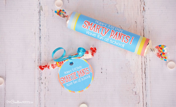 image relating to Smartie Pants Printable named Smarties Back again in direction of Higher education Printables for a Enjoyable To start with Working day