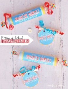 Smarties Back to School Printables for a Fun First Day!