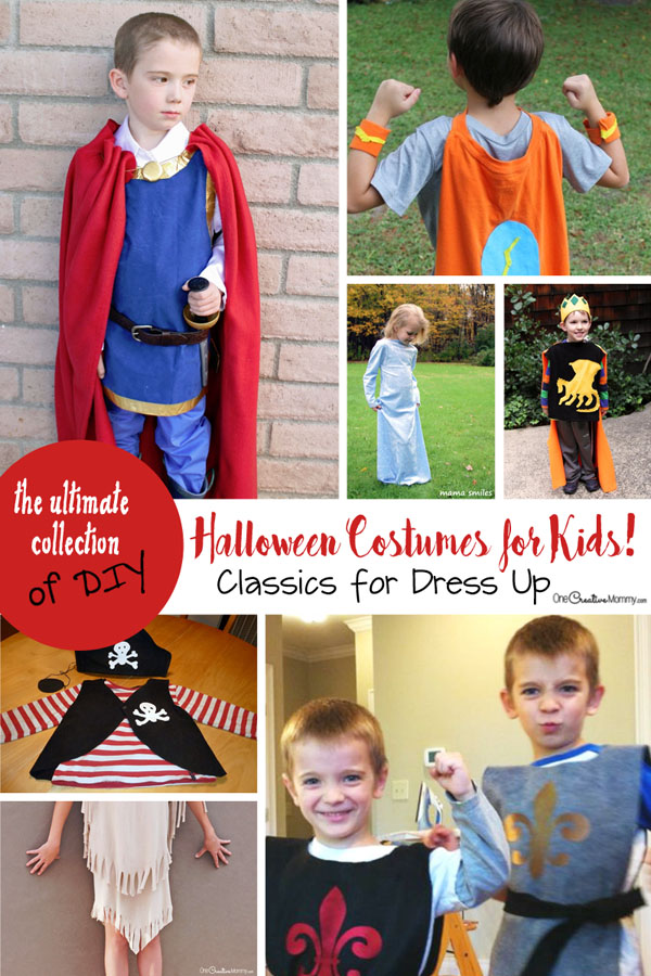These classic Halloween costumes transition perfectly from Halloween to the Dress Up box! {OneCreativeMommy.com}