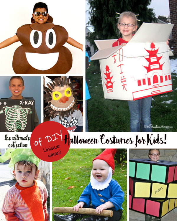 Want to be totally unique this Halloween? These cool costumes for kids definitely stand out! {OneCreativeMommy.com}