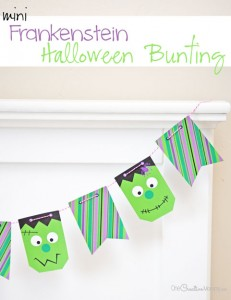 This mini Frankenstein Halloween Bunting is a scream!