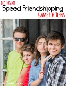 Speed Friendshipping Game for Teens