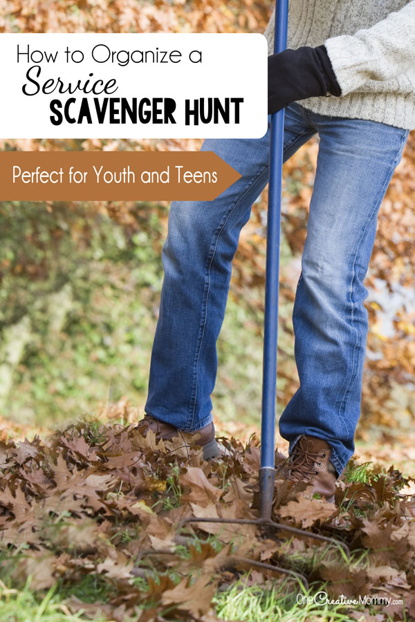 Help teens and youth learn gratitude with a Service Scavenger Hunt! {OneCreativeMommy.com} Tips for organizing and free printables