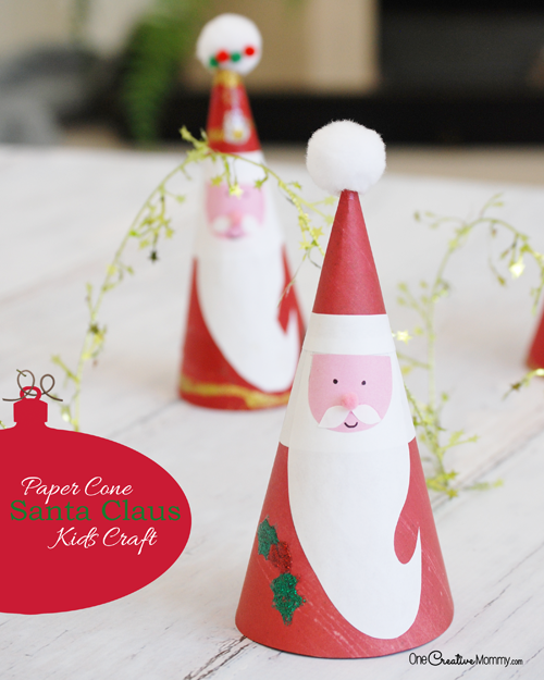 irresistible santa claus kids craft   onecreativemommy