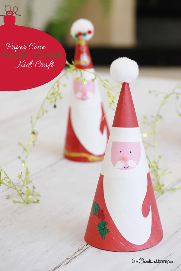 Irresistible Santa Claus Kids Craft Onecreativemommy Com