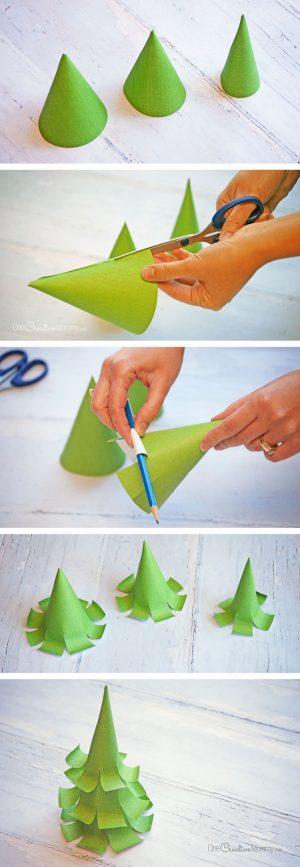 Как сделать елочку с бумаги для окон