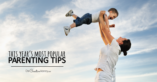 This year's most popular parenting tips! {OneCreativeMommy.com} Top 5 best advice posts for parents