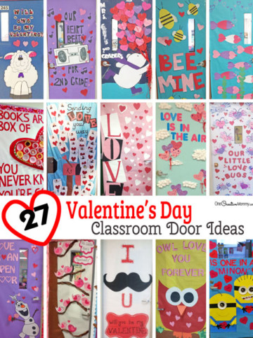 27 Creative Valentine's Day Classroom Door Decorations {OneCreativeMommy.com} I can't decide which idea to use!