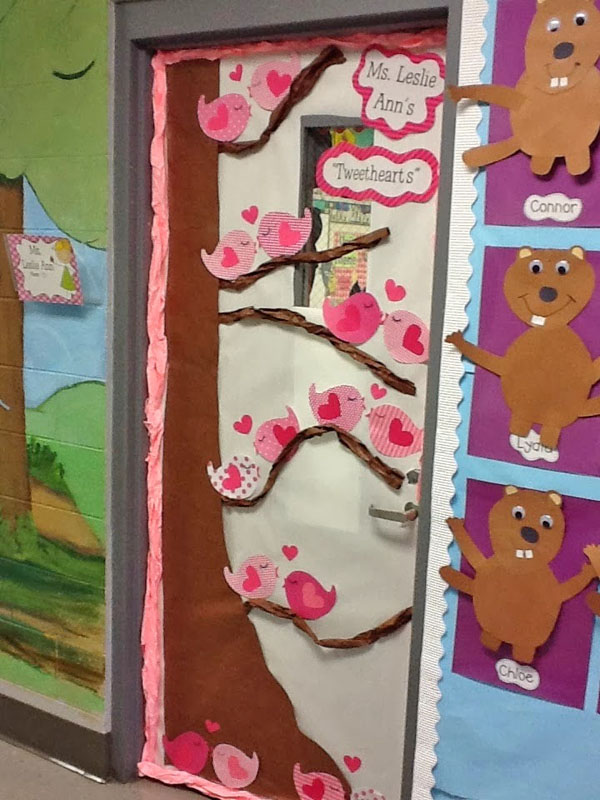 TweetHearts themed classroom door - Featured in 27 Valentine's Day Classroom Door Decorating Ideas {OneCreativeMommy.com}