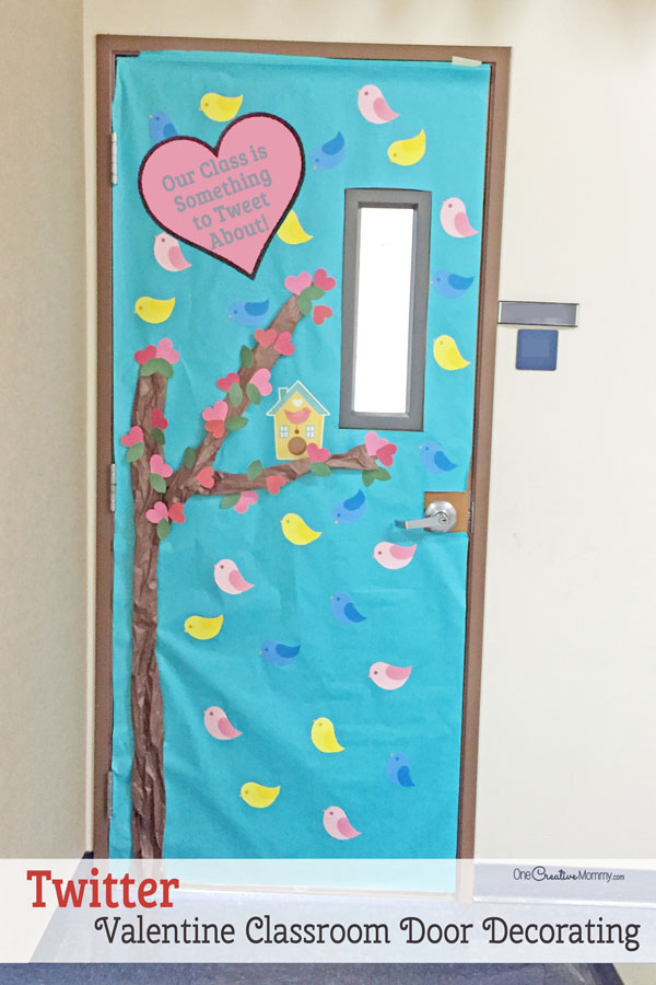 Merveilleux Twitter Themed Classroom Door   Featured In 27 Valentineu0027s Day Classroom Door  Decorating Ideas {OneCreativeMommy