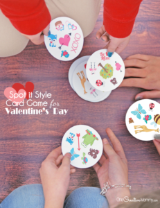 If you love Spot It, you'll love this Valentine's Day matching game! {OneCreativeMommy.com} Free Printables