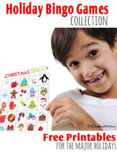 The Ultimate Holiday Bingo Games Collection! {OneCreativeMommy.com} Free printable bingo games for the major holidays.