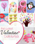 25 amazing Valentine craft ideas to try right now! {OneCreativeMommy.com} Valentines Day Crafts for Kids