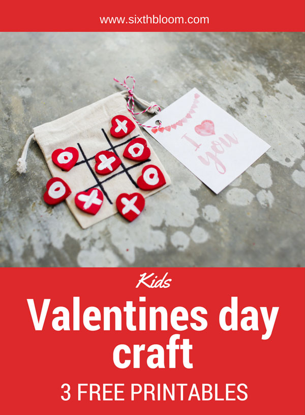 Valentine's Day Tic-Tac-Toe Craft from Sixth Bloom Featured on 25 amazing Valentine craft ideas to try right now! {OneCreativeMommy.com}