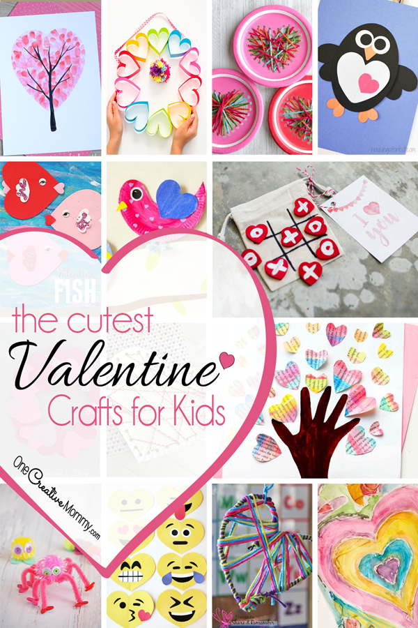 25 amazing Valentine craft ideas to try right now! {OneCreativeMommy.com} Valentines Day Crafts for Kids #valentinesday #valentinecraftideas #valentinekidscrafts #kidscrafts