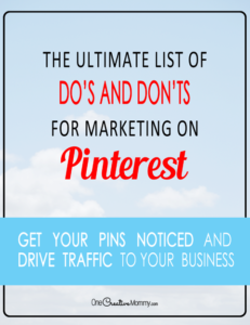 The Ultimate List of Do's and Don'ts for Marketing on Pinterest