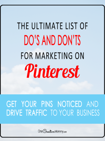 """Stop wasting your time and start driving traffic to your business from Pinterest! Change your pinterest marketing strategy and start making more money today. {OneCreativeMommy.com} #pinterestmarketing #pinteresttips #pinterest"""""""