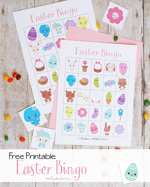 The cutest Easter Bingo game for your family!