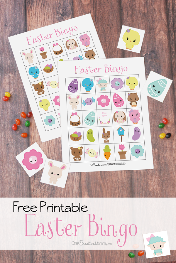 picture regarding Free Printable Easter Bingo Cards named The cutest Easter Bingo video game for your family members