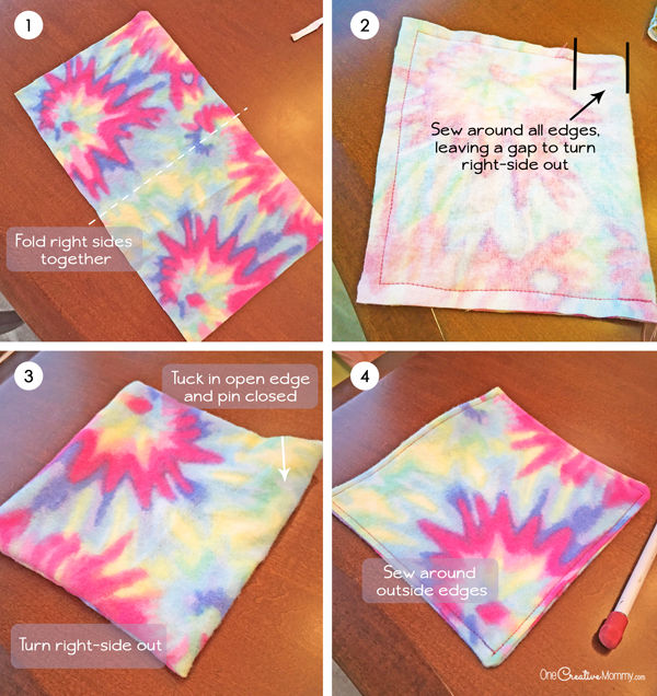 Step-by-step instructions to create DIY seat belt covers {OneCreativeMommy.com}