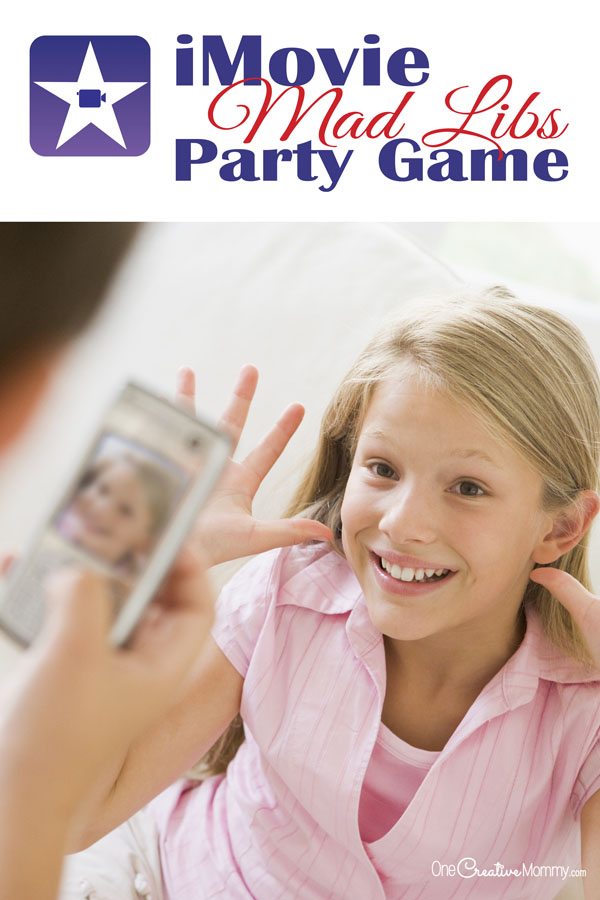 We combined iMovie trailers with the classic game of Mad Libs for tons of kids party fun! Host an iMovie party or use it as a spy party game. So much fun! {OneCreativeMommy.com} Kids party games