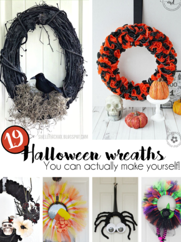 19 Easy Halloween Wreaths You Can Actually Make! Which one will you create for your home this Halloween? {OneCreativeMommy.com}