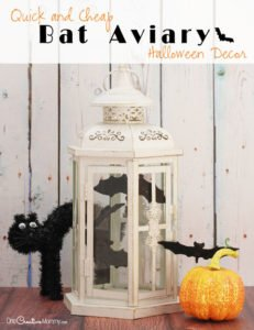 Cheap Halloween Decorations: Easy Bat Aviary