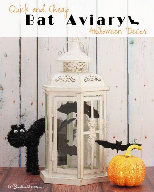Cheap Halloween Decorations: Easy Bat Aviary