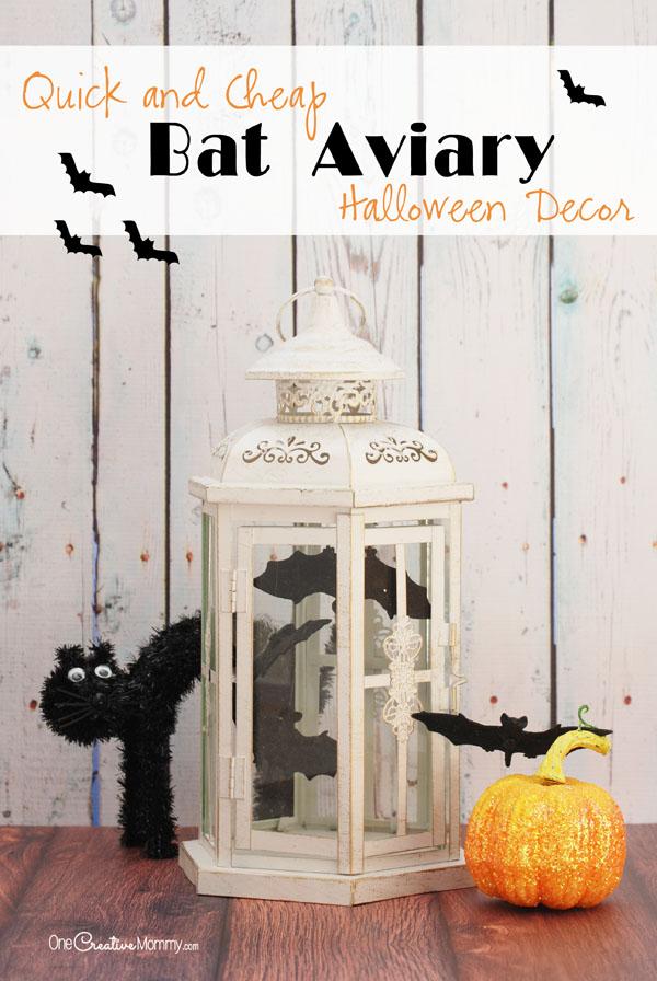 Cheap Halloween Decorations Easy Bat Aviary Onecreativemommy Com