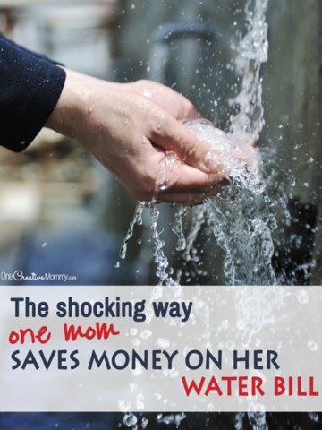 You'll be shocked when you see the brilliant way this mom saves money on her water bill! Plus find out more great ways to save water and save money. {OneCreativeMommy.com}
