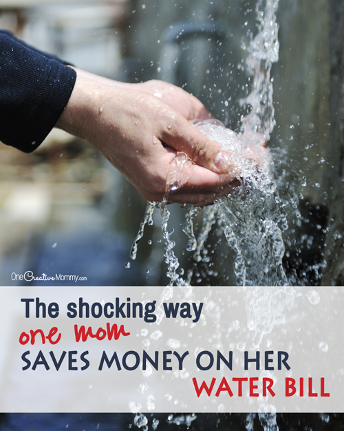 The shocking way one mom saves money on her water bill!