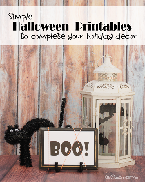 Simple Halloween Printables to Complete Your Decorating