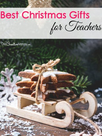 Best Christmas Gift Ideas for Teachers - Practical Ideas Teachers will Really Like {OneCreativeMommy.com}