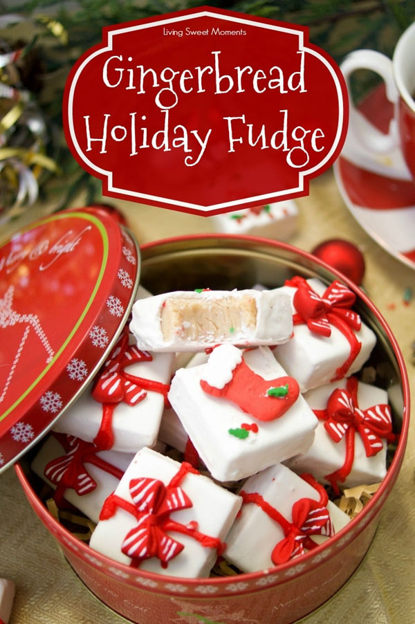 Gingerbread Holiday Fudge from Living Sweet Moments | Featured in Best Christmas Gifts for Teachers Roundup {OneCreativeMommy.com}