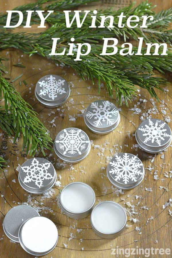 DIY Winter Lip Balm from Blue Bear Wood | Featured in Best Christmas Gifts for Teachers Roundup {OneCreativeMommy.com}