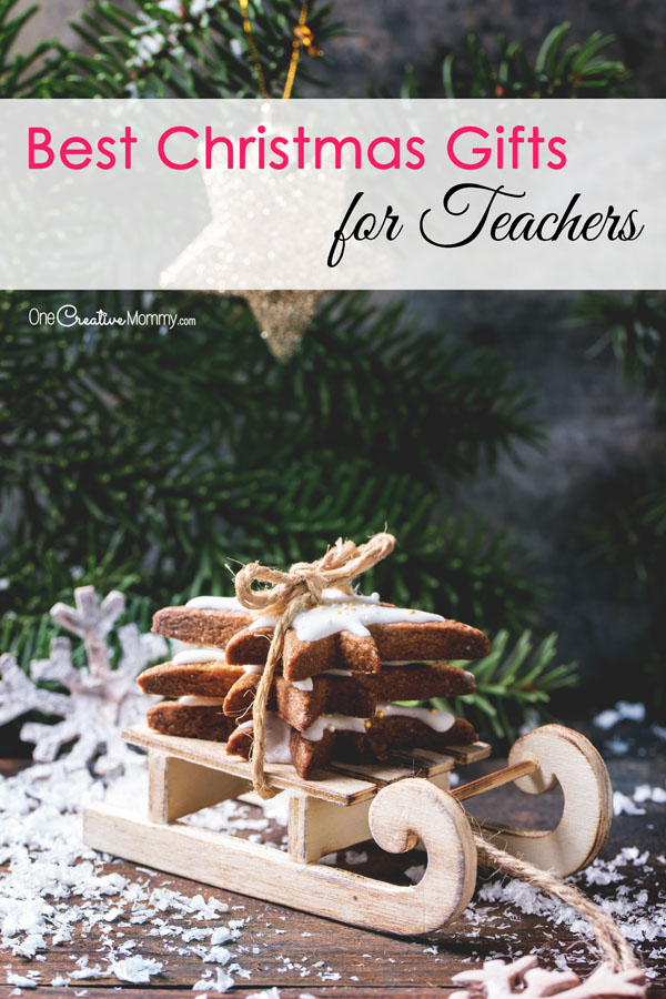 Best Christmas Gift Ideas for Teachers - Practical Ideas Teachers will Really Like {OneCreativeMommy.com} #christmasgiftideas #teachergifts #teachergiftideas