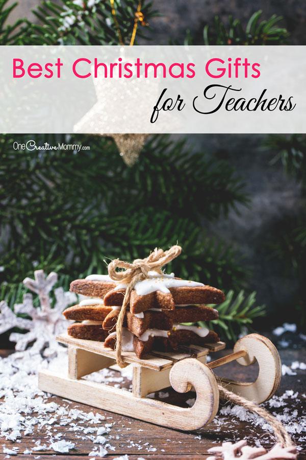 Best Christmas Gift Ideas for Teachers - Practical Ideas Teachers will Really Like {OneCreativeMommy.com}