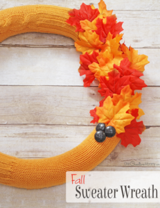 Cozy Sweater Pool Noodle Fall Wreath Tutorial