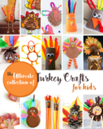 The Ultimate Turkey Crafts Roundup is sure to have the perfect Thanksgiving craft for your holiday! {OneCreativeMommy.com} More than 55 Turkey Crafts for Kids!