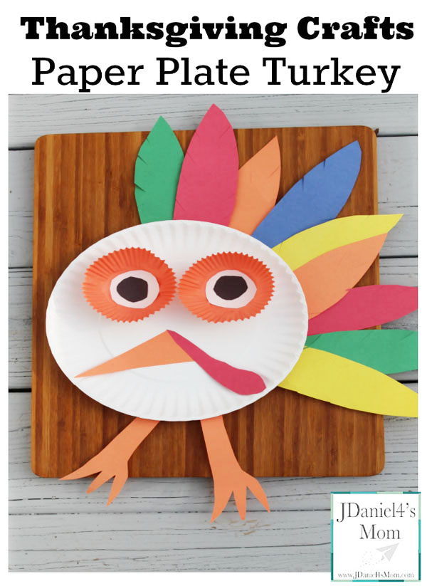 Paper Plate Turkey from JDaniel4's Mom | Featured in the Ultimate Turkey Crafts for Kids Roundup {OneCreativeMommy.com}