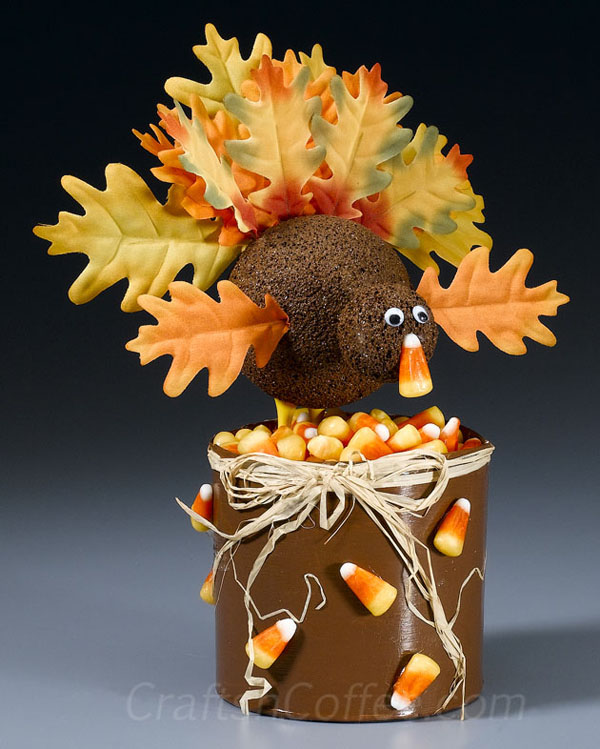 Silk Leaf Turkeys from Crafts 'n Coffee | Featured in the Ultimate Turkey Crafts for Kids Roundup {OneCreativeMommy.com}